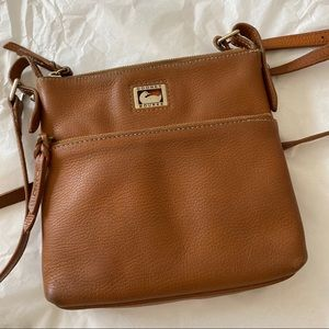 Dooney and Bourke leather crossbody brown bag